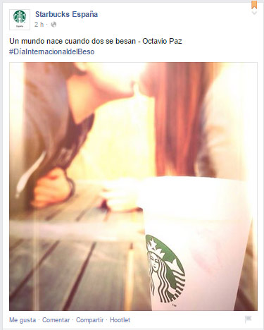 Anuncio Facebook Ads starbucks