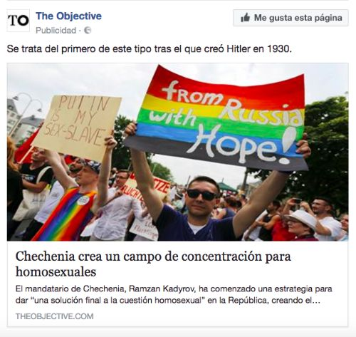Anuncio Facebook noticia