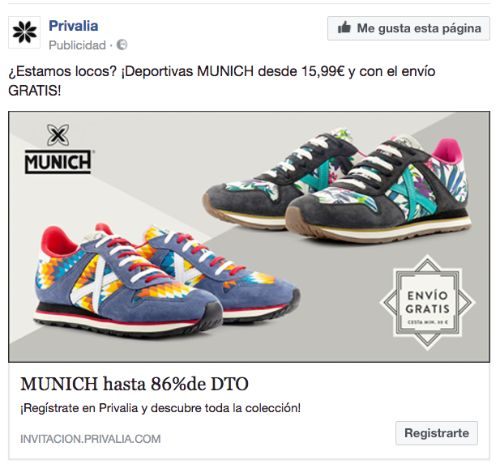 Anuncio facebook copywriting
