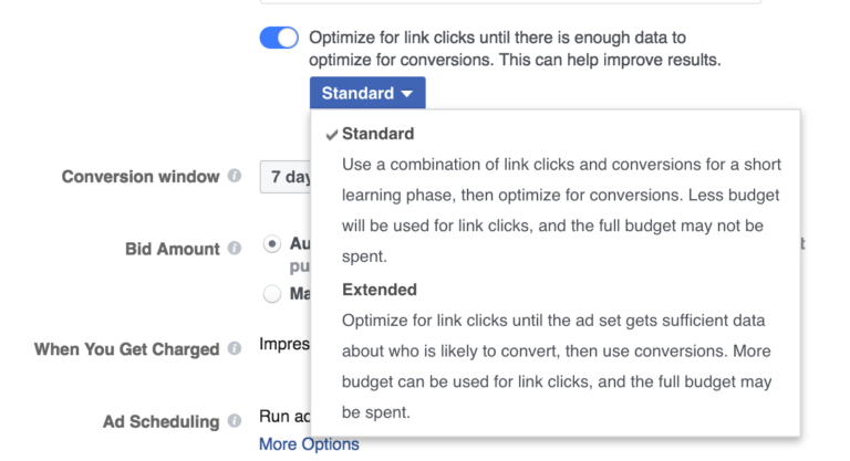 Optimizacion conversion Facebook Ads